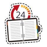 öppna 24 bild för 7 symbol Arkivbild