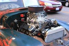 Öppna bilmotorn Fotografering för Bildbyråer