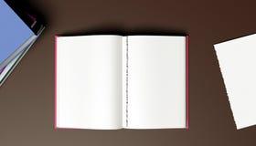 Öppna boken - sönderriven sida royaltyfri illustrationer
