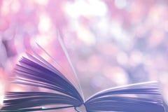 Öppna boken utomhus Royaltyfri Foto
