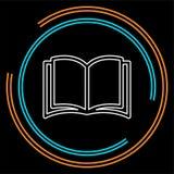 Öppna boksymbolen isolerad utbildningsbok - skolalitteratur, isolerad tidskriftillustration royaltyfri illustrationer