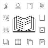 Öppna boksymbolen Universell uppsättning för bok- och tidskriftsymboler för rengöringsduk och mobil vektor illustrationer