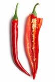 Öppna chili Arkivbild