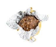 Öppna chokladgodisen Arkivfoto