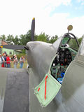 Öppna cockpiten av den Supermarine hetlevrad person Royaltyfria Bilder