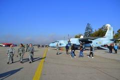 Öppna dörrar för bulgariskt flygvapen Royaltyfri Foto