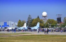 Öppna dörrar för bulgariskt flygvapen Royaltyfri Fotografi