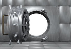 Öppna dörren för bankvalvet Royaltyfri Foto
