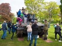 Öppna dagar för militär i Nederländerna arkivbild