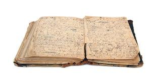 Öppna den gamla boken. Royaltyfri Fotografi