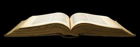 Öppna den gamla boken Arkivbilder