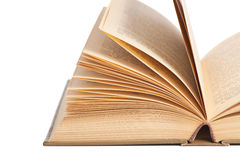 Öppna den gamla boken Arkivfoton