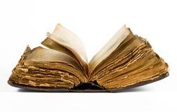 Öppna den gammala boken Royaltyfria Bilder