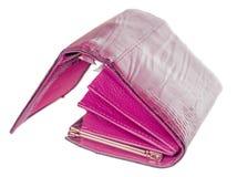Öppna den kvinnliga plånboken Royaltyfri Bild