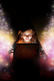 Öppna den magiska asken Fotografering för Bildbyråer