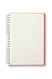 Öppna den röda anteckningsboken Royaltyfri Bild