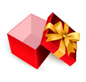 Öppna den röda gåvaasken Royaltyfri Foto