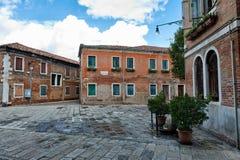 Öppna den stads- fyrkanten, Murano, Venedig, Italien Royaltyfri Foto