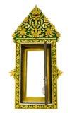 öppna det thai fönstret för tempelet Arkivfoton
