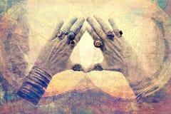 Öppna din bön Fotografering för Bildbyråer