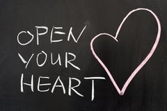 Öppna din hjärta Arkivfoton