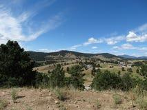 Öppna fält och landskap i colorado Royaltyfria Bilder
