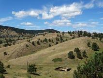 Öppna fält och landskap i colorado Royaltyfri Bild