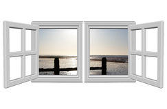 öppna fönster Royaltyfri Bild