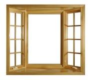öppna fönster arkivbild