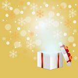 Öppna gåvaasken Fotografering för Bildbyråer