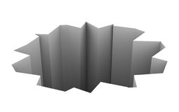 Öppna hålPit Chasm 3d bakgrund Arkivfoton