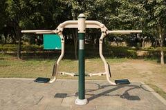 Öppna idrottshallen i en trädgård Royaltyfria Bilder
