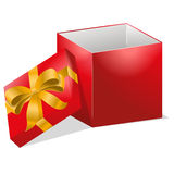 Öppna illustrationen för gåvaasken Royaltyfria Bilder