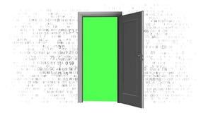 Öppna källdatorkoden Dörr som ska kodifieras vektor illustrationer