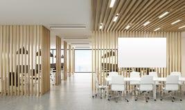 Öppna kontoret med whiteboard Arkivbild