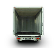 Öppna leveransskåpbilen Arkivbild