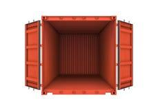Öppna metallbehållaren som isoleras på vit bakgrund Royaltyfri Fotografi