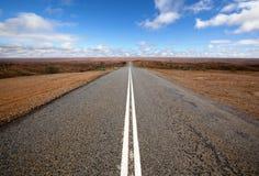 öppna outback vägen Arkivbilder