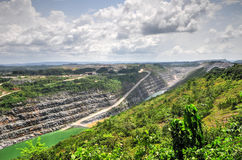 Öppna Pit Gold Mine, Afrika Royaltyfria Bilder