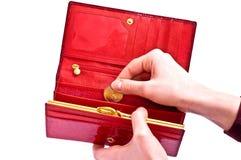 öppna plånboken Fotografering för Bildbyråer