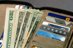 öppna plånboken Royaltyfri Foto