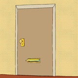 Öppna postspringan i dörr Arkivfoto