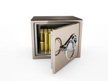 Öppna safen med mynt Royaltyfri Fotografi