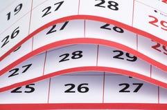 Öppna sidor av en kalender royaltyfria foton