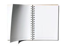 öppna sidor för anteckningsbok Royaltyfri Fotografi