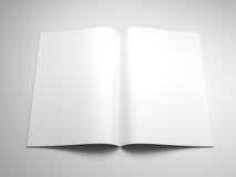 öppna sidor för blank bok Arkivbilder