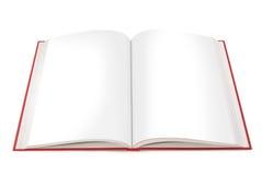 öppna sidor för blank bok Arkivfoto