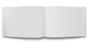 öppna sidor för blank bok Royaltyfri Bild