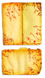 öppna sidor för bokgrunge Royaltyfria Foton