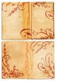 öppna sidor för bokgrunge Royaltyfri Bild